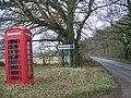 Telephone box, Harewood Lane - geograph.org.uk - 1099936.jpg