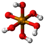 Ball-and-stick model of telluric acid