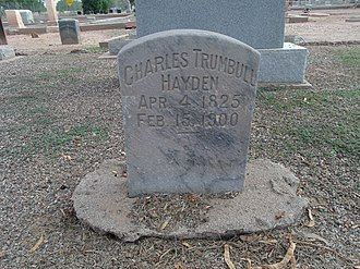 Charles T. Hayden - The grave site of Charles Trumbull Hayden  ; Sec. B – 49 in Double Butte Cemetery.