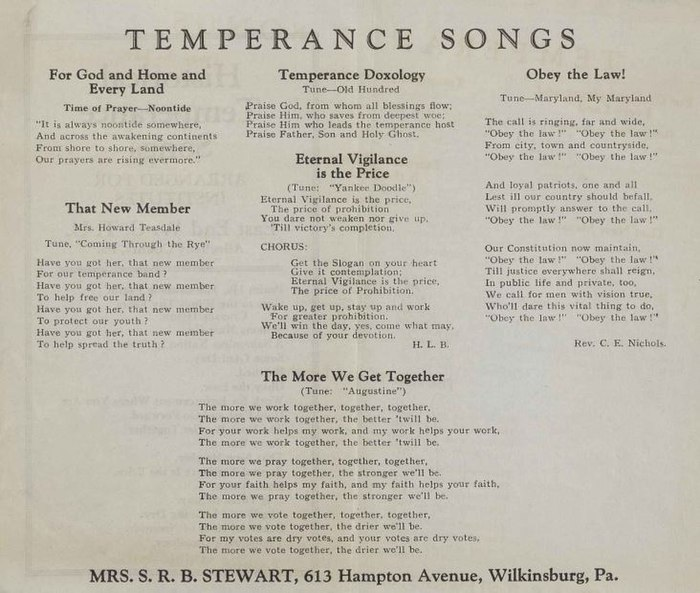 Temperance songs - Wikiwand