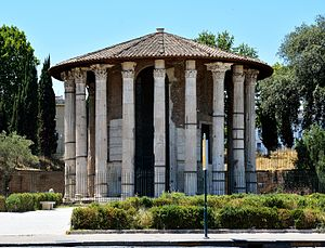 Temple of Hercules Victor - The Temple of Hercules Victor, in the Forum Boarium.