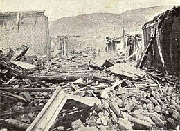 Damage in Valparaíso after the earthquake