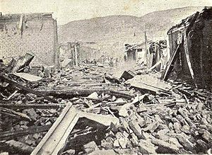 1906 Valparaíso earthquake - Damage in Valparaíso after the earthquake