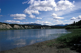 Teslin River - Teslin River at Johnson's crossing