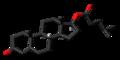 Testosterone isocaproate molecule skeletal.png