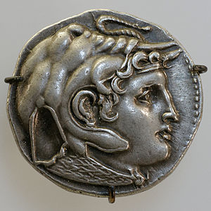 Political warfare -  Alexander the Great silver tetradrachm.