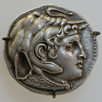 Ptolemy I Soter - Ptolemaic coin showing Alexander wearing an elephant scalp, a symbol of his conquest in India
