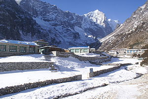 Thame, Nepal - Thame in snow