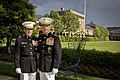 The 35th Commandant of the Marine Corps, Gen. James F. Amos, right, poses for a photo with Gen. George J. Flynn prior to Flynn's retirement ceremony at Marine Barracks Washington in Washington, D.C., May 9 130509-M-LU710-134.jpg
