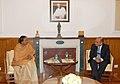 The Ambassador of Arab Republic of Egypt in India, Mr. Khaled El Bakly calls on the Speaker, Lok Sabha, Smt. Meira Kumar, in Parliament House, in New Delhi on December 13, 2010.jpg