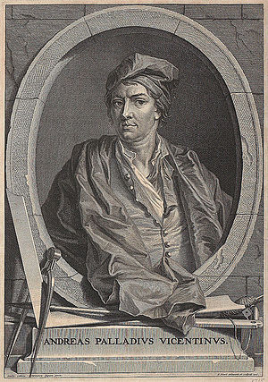 Sebastiano Ricci - Fake portrait of Palladio attributed to Veronese, frontispiece to The Architecture of A. Palladio, 1715, engraved by Bernard Picart after Ricci