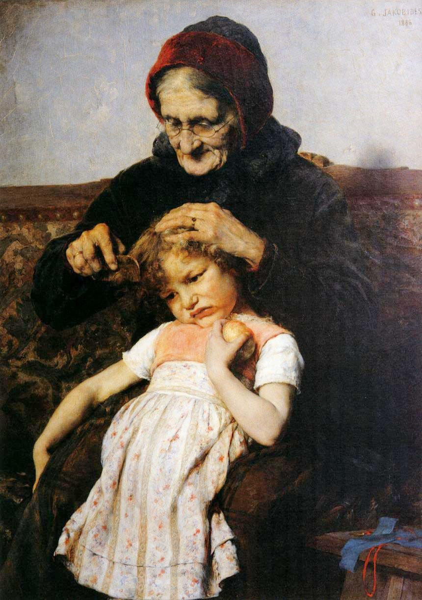 The Combing of Granddaughter