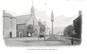 The Cross, Monmouth - Image: The Cross and St Thomas early 1900's