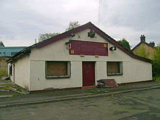 Croy, North Lanarkshire - The last incarnation of Croy's local pub prior to its demolition