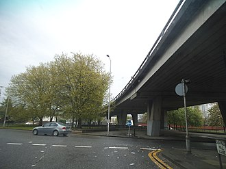 Duppas Hill - The Croydon flyover from Duppas Hill Lane roundabout
