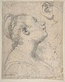 The Head and Shoulders of a Woman in Profile; Separate Studies of Her Head and Ear (recto); Fragment of Drapery Study, Profile of Architectural Molding (verso). MET DP810936.jpg