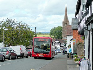 Weobley - Image: The Hereford Bus geograph.org.uk 2549306