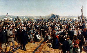 Central Pacific Railroad - The Last Spike, by Thomas Hill, (1881)