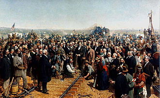 Union Pacific Railroad - The Last Spike, by Thomas Hill (1881)
