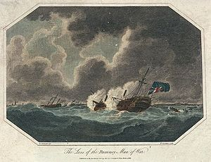 HMS Romney (1762) - Image: The Loss of the Romney Man of War