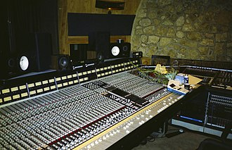 The Manor Studio - The Manor Studios control room.