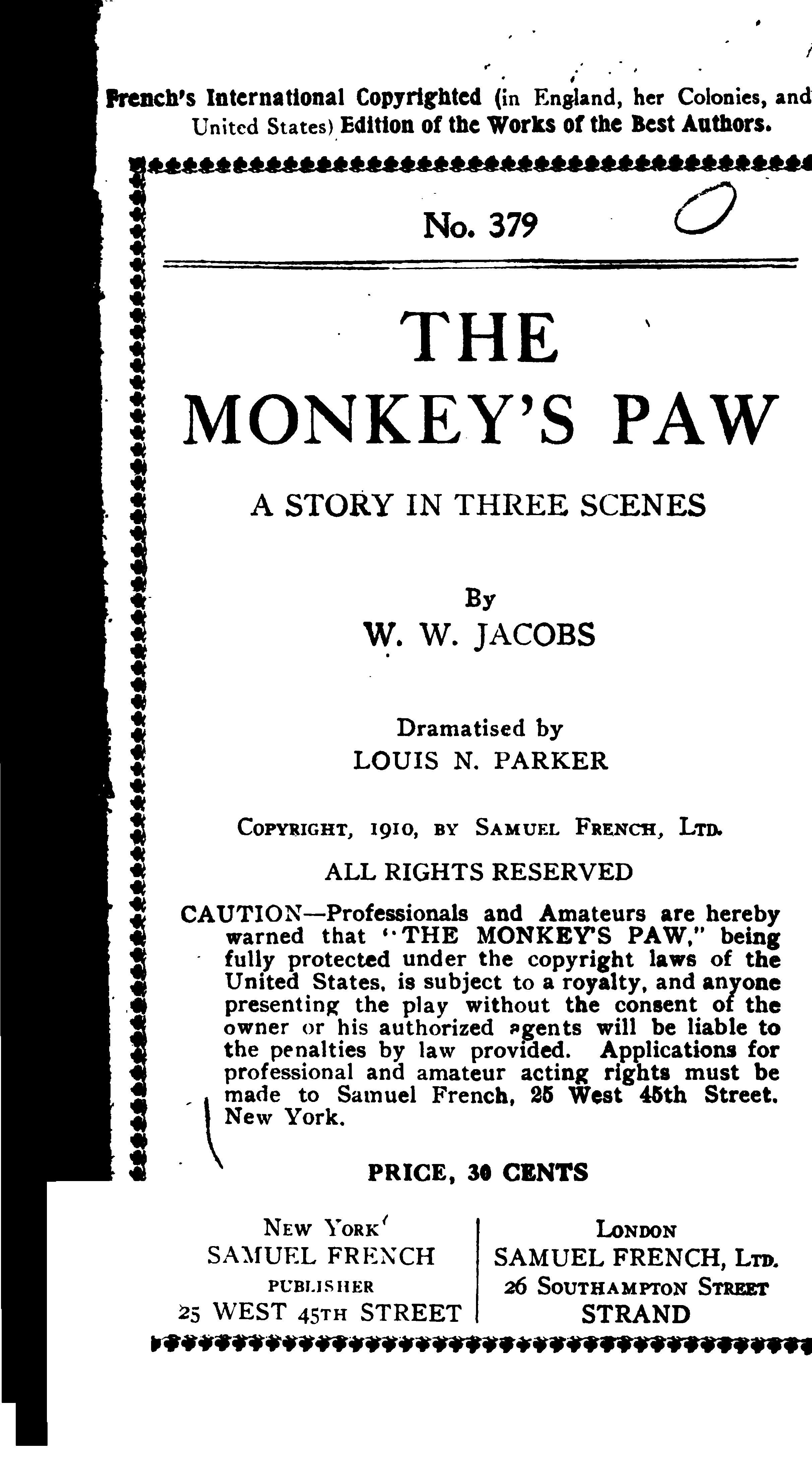 The Monkeys Paw Pdf Pdf