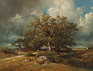 Jules Dupré - Jules Dupré, The Old Oak, 1870, National Gallery of Art, Washington DC