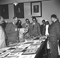 The Panel of Judges presided over by Krishna Prasad selecting designs for free India's new postage stamps.jpg