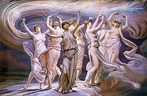 Pleiades (Greek mythology) - The Pleiades (1885) by the Symbolist painter Elihu Vedder