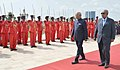 The President, Shri Ram Nath Kovind inspecting the Guard of Honour, during the ceremonial welcome, at Presidential Palace, in Djibouti on October 04, 2017. The President of Djibouti, Mr. Ismail Omar Guelleh is also seen.jpg
