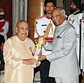 The President, Shri Ram Nath Kovind presenting the Padma Bhushan Award to Pandit Arvind Parikh, at the Civil Investiture Ceremony, at Rashtrapati Bhavan, in New Delhi on March 20, 2018.jpg