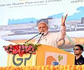 The Prime Minister, Shri Narendra Modi addressing a public meeting, at the inauguration of the Mundra LNG Terminal & Anjar – Mundra Gas Transmission Project, in Anjar, Gujarat on September 30, 2018.JPG