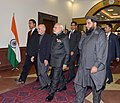 The Prime Minister, Shri Narendra Modi and the President of Afghanistan, Dr. Mohammad Ashraf Ghani at the inauguration ceremony of the Afghanistan Parliament, at Kabul, in Afghanistan on December 25, 2015 (1).jpg
