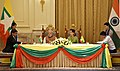 The Prime Minister, Shri Narendra Modi and the State Counsellor of Myanmar, Ms. Aung San Suu Kyi witnessing the signing of agreement, at Presidential Palace, in Nay Pyi Taw, Myanmar on September 06, 2017.jpg