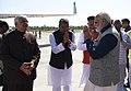 The Prime Minister, Shri Narendra Modi emplanes from Dehradun after his visit to Kedarnath, in Uttarakhand.jpg