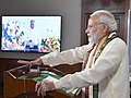 The Prime Minister, Shri Narendra Modi joined the programme, through video bridge marking the expansion of Emergency Ambulance Services across the entire island of Sri Lanka, in New Delhi on July 21, 2018.JPG