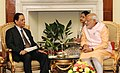 The Prime Minister, Shri Narendra Modi meeting the Prime Minister of Mauritius, Mr. Anerood Jugnauth, in New Delhi on October 30, 2015 (1).jpg