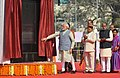 The Prime Minister, Shri Narendra Modi unveiling the plaque to dedicate Dr. Ambedkar International Centre to the Nation, at 15 Janpath, in New Delhi (1).jpg