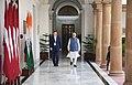 The Prime Minister, Shri Narendra Modi with the Prime Minister of the Republic of Latvia, Mr. Maris Kucinskis, at Hyderabad House, in New Delhi on November 03, 2017.jpg