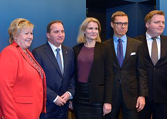 Nordic countries - Nordic prime ministers at the Nordic Council meeting in 2014 in Stockholm