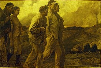Constantin Meunier - Image: The Return of the Miners