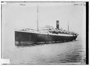 SS Appam - SS Appam circa 1915 facing left