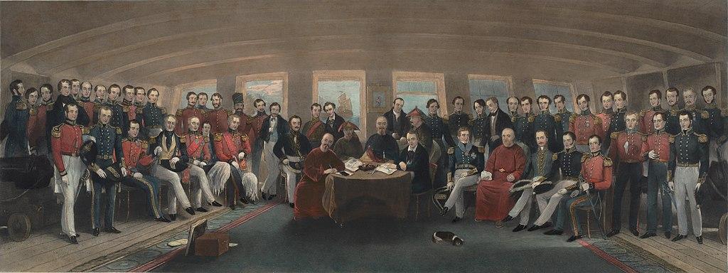 Firma del Tratado de Nankín.