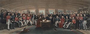The signing and sealing of the Treaty of Nanking.