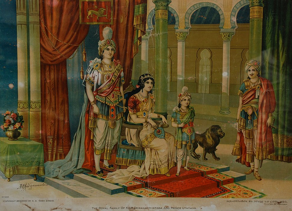The Sinhalese Royal Family of King Devanampiya Tissa and Prince Uththiya
