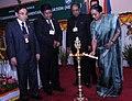 The Speaker, Lok Sabha, Smt. Meira Kumar lighting the lamp to inaugurate the 13th Annual Conference of North East Region Commonwealth Parliamentary Association, at Itanagar, Arunachal Pradesh on April 28, 2011.jpg