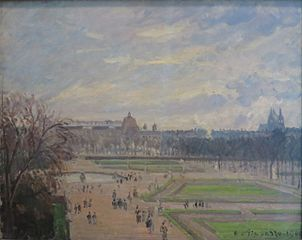 The Tuileries Gardens, Bright Cloudy Weather