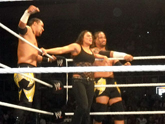 The Usos - The Usos with Tamina in September 2010