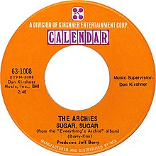 Description de l'image The archies sugar sugar 1969 US vinyl.jpg.