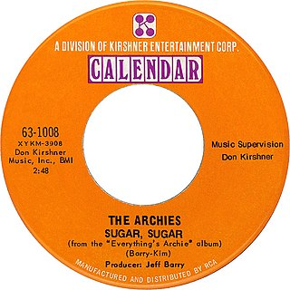 Sugar, Sugar 1969 single by The Archies